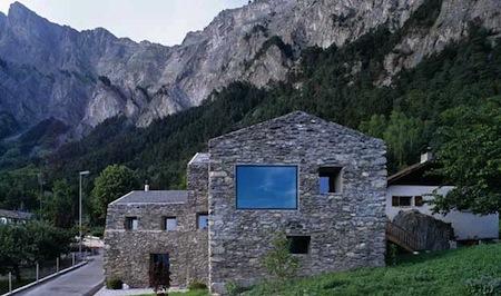 1088 architecture design muuuz maison pierre chamoson - Maison en pierre giordano hadamik architects ...