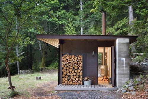 Cabane en bois moderne for Cabane en bois moderne
