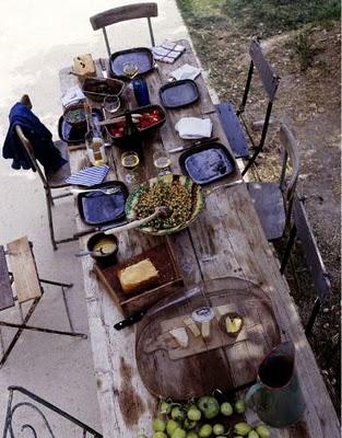 Belle Table de jardin déco chic