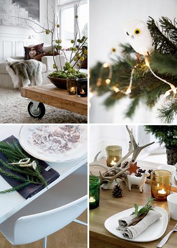 ambiance de décoration de Noël chic