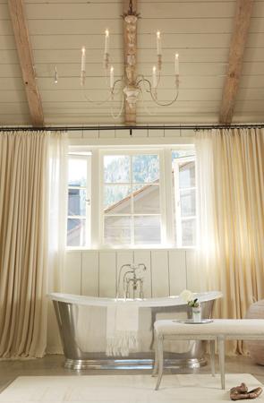 salle de bain chic baignoire sabot