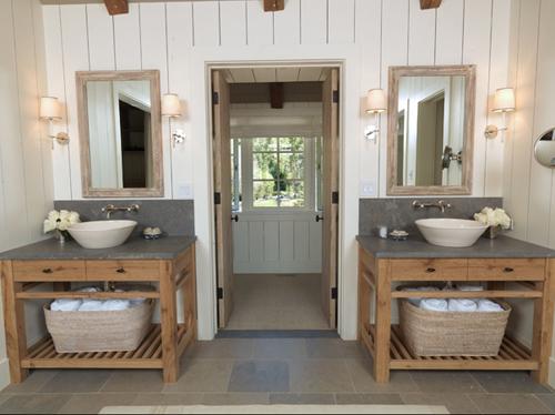 salle de bain chic beau meuble en bois