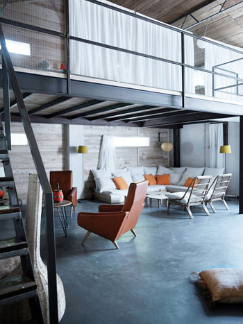 Une grange r nov e en belle maison de famille - Renovation grange loft ...