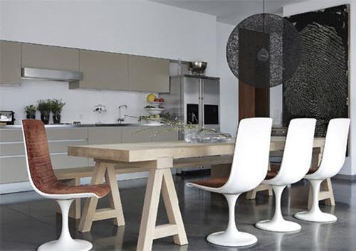 belle table de cuisine en bois - Décoration Chic
