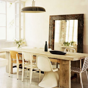 belle table en bois brut - FactoryChic