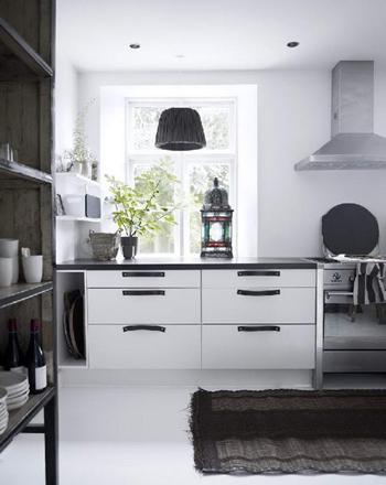 Belle cuisine en Noir et blanc - FactoryChic