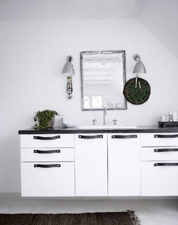 Belle salle de bain Noir et Blanc - FactoryChic
