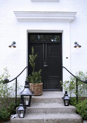 Très belle maison en Noir et Blanc