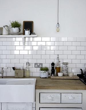 Détail d'une belle cuisine blanche