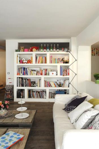 Détail salon loft parisien