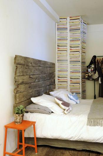 Belle tête de lit en bois