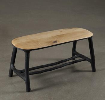 banc en bois original