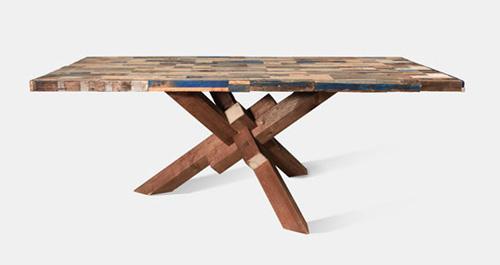 Table en bois brut originale