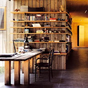 Belle bibliothèque en bois