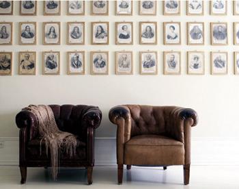 Beaux fauteuils en cuir