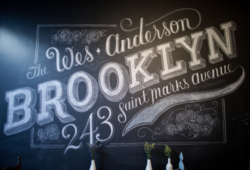 Typographie artistique Brooklyn