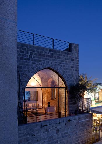 Vue extérieure de l'appartement du vieux port de Tel-Aviv