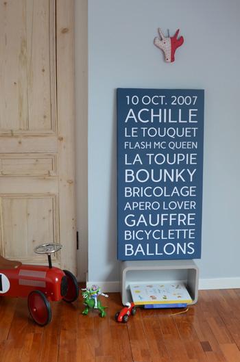 "Toile Trendy ""petite"" bleue"
