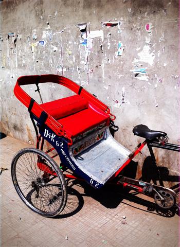 Un rickshaw dans Delhi