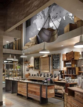 Comptoir de style industriel en bois et métal