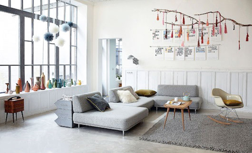 Loft industriel scandinave lille r novation et style - Decoration industrielle salon ...