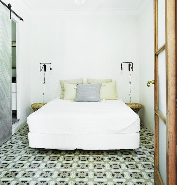 Chambre sol carreaux de ciment